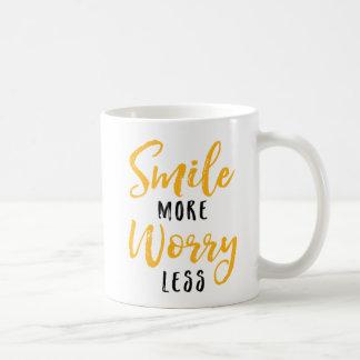 Smile More. Worry Less. Coffee Mug