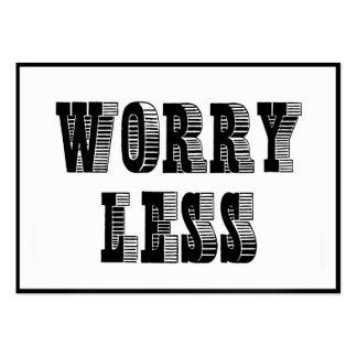 SMILE MORE - WORRY LESS DIPTYCH MOTIVATION QUOTE W LARGE BUSINESS CARDS (Pack OF 100)