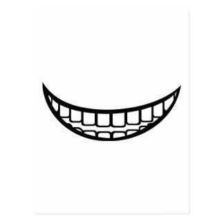 Smile mouth postcard
