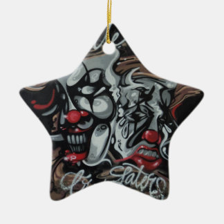 Smile now ceramic ornament