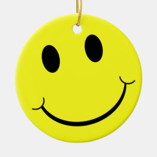 Smile! Double-Sided Ceramic Round Christmas Ornament