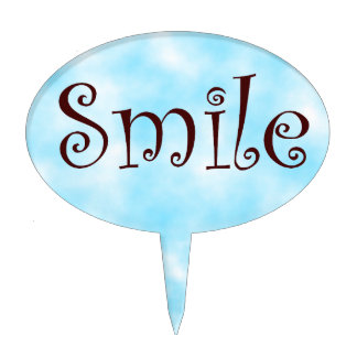 Smile-oval cakepick