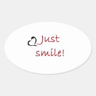 Smile Oval Sticker