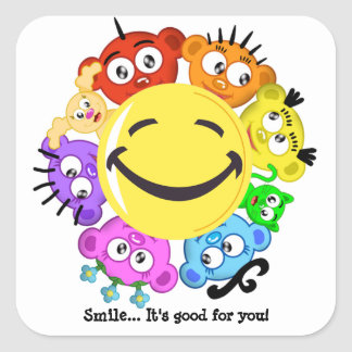 Smile Peek-A-Boo Sticker