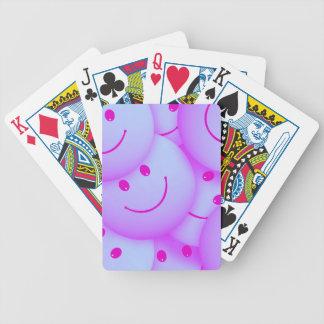 Smile pink bicycle playing cards