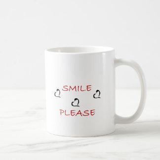 smile please coffee mug