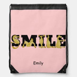 SMILE ponies Drawstring Bag