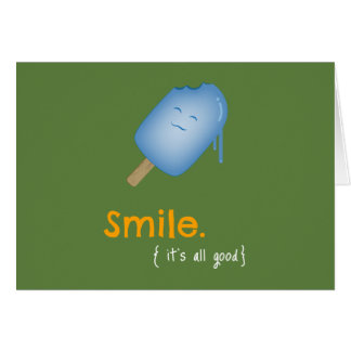 Smile Popsicle / Ice Cream Card