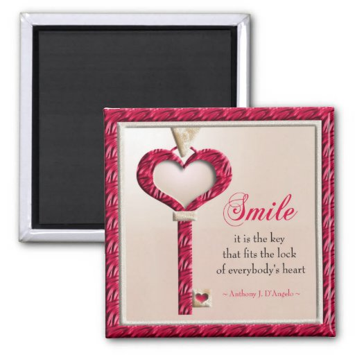 smile quote motivational magnet zazzle