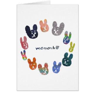 smile rabbits circle greeting cards