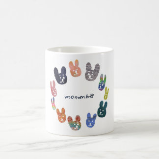 smile rabbits circle coffee mug