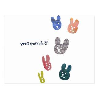 smile rabbits post card