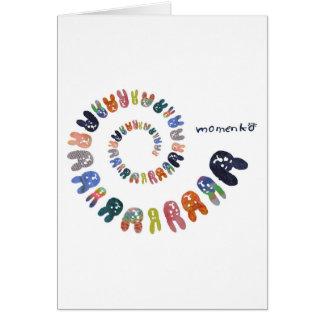 smile rabbits spiral greeting card