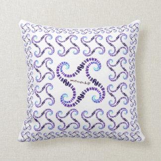smile rabbits spiral dark purple throw pillows