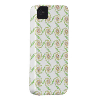 smile rabbits spiral green Case-Mate iPhone 4 case
