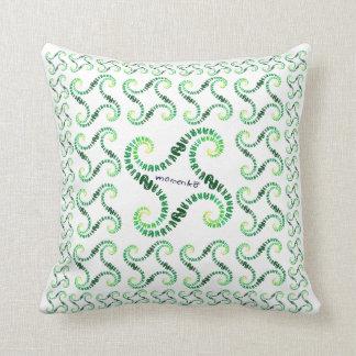 smile rabbits spiral green pillows