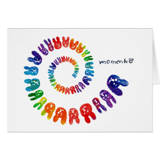 smile rabbits spiral rainbow cards