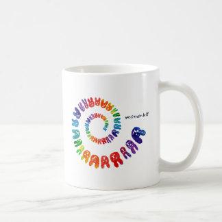 smile rabbits spiral rainbow coffee mug