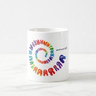 smile rabbits spiral rainbow mug