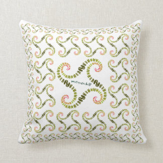 smile rabbits spiral yellowgreen pillows