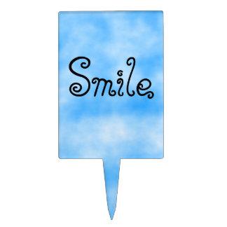 Smile-rectangular cake pick