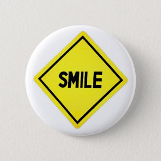 Smile road sign button