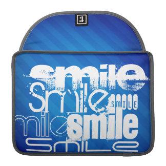 Smile; Royal Blue Stripes Sleeve For MacBooks