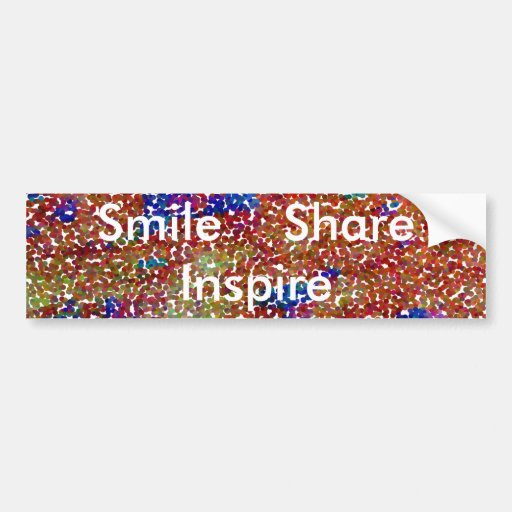 Smile, Share n Inspire - Rainbow Man Bumper Sticker