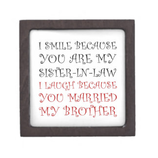 Smile Sister In Law Jewelry Box