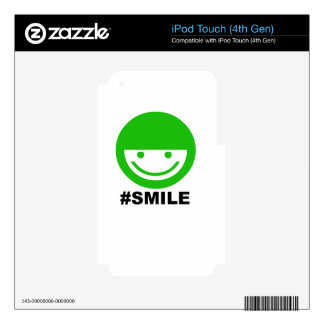SMILE iPod TOUCH 4G DECAL