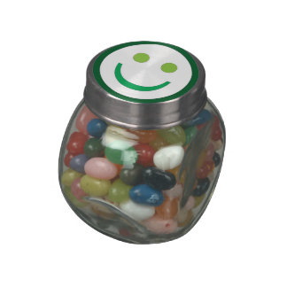 SMILE SMILEY ROUND SWEET BABY GLASS CANDY JARS