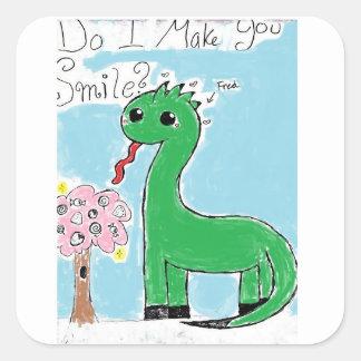 Smile sorus square sticker