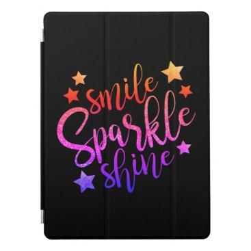 Bride Themed Smile Sparkle Shine Black Multi Coloured iPad Pro Cover