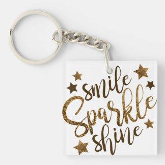 Smile, sparkle, shine keychain