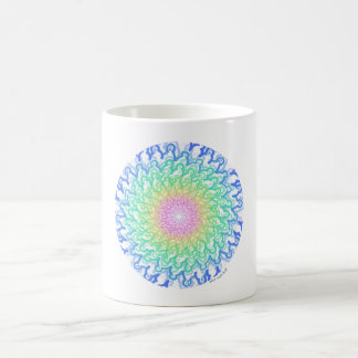 smile spiral circle rainbow coffee mug
