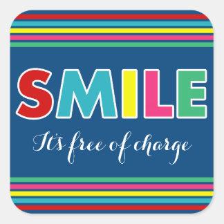 Smile! Square Sticker