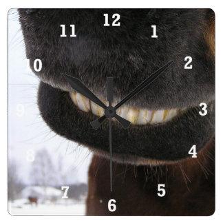 Smile Square Wall Clock