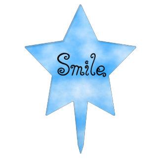 Smile-star cake pick