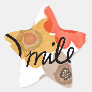 Smile Star Sticker