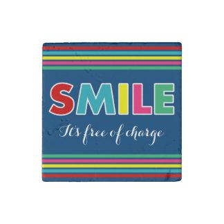 Smile! Stone Magnet