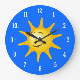 Smile sun Decorative Clock