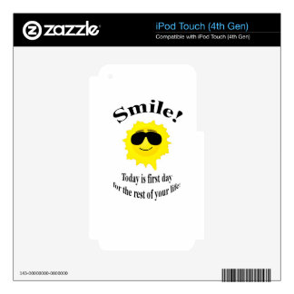 Smile Sun iPod Touch 4G Skins