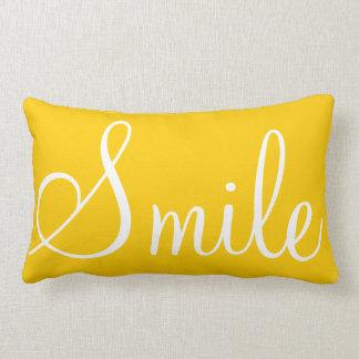 SMILE - Sunshine yellow decorative pillow