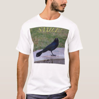 """Smile!"" T-Shirt - Great-Tailed Grackle"