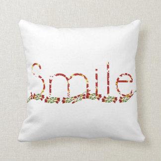 Smile Text pillow