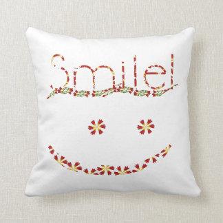 Smile Text pillow2 Throw Pillow