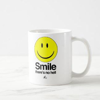 Smile there s no hell mug