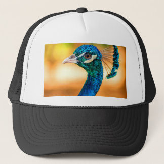 smile to dear love peacock trucker hat