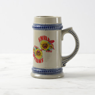 Smile to life beer stein