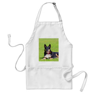Smile to my love  dog mongrel mixed breed aprons